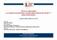 A Parma: Verso il Referendum. Le ricadute della riforma del titolo V